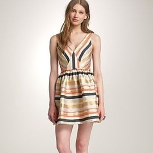 J. Crew candy stripe fit and flare dress